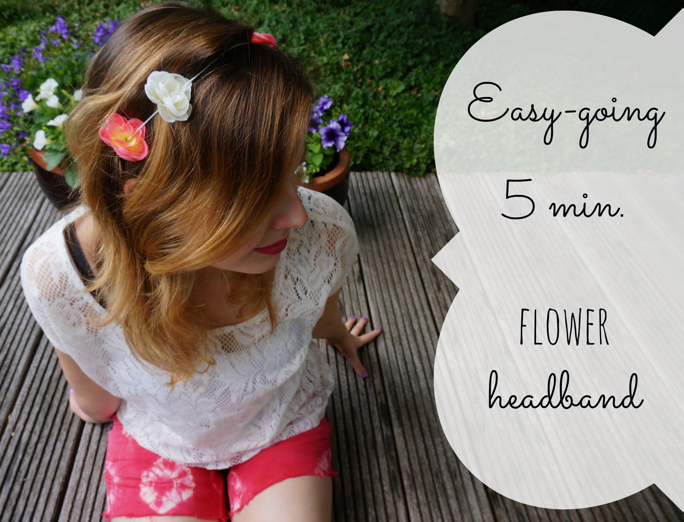 Easy-going DIY faux flower headband {under 5 min. tutorial}