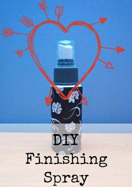 DIY Finishing/Fixing Spray