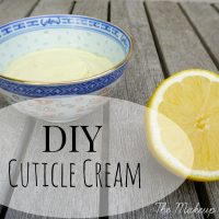 DIY Cuticle Cream inspired by LUSH Lemony Flutter