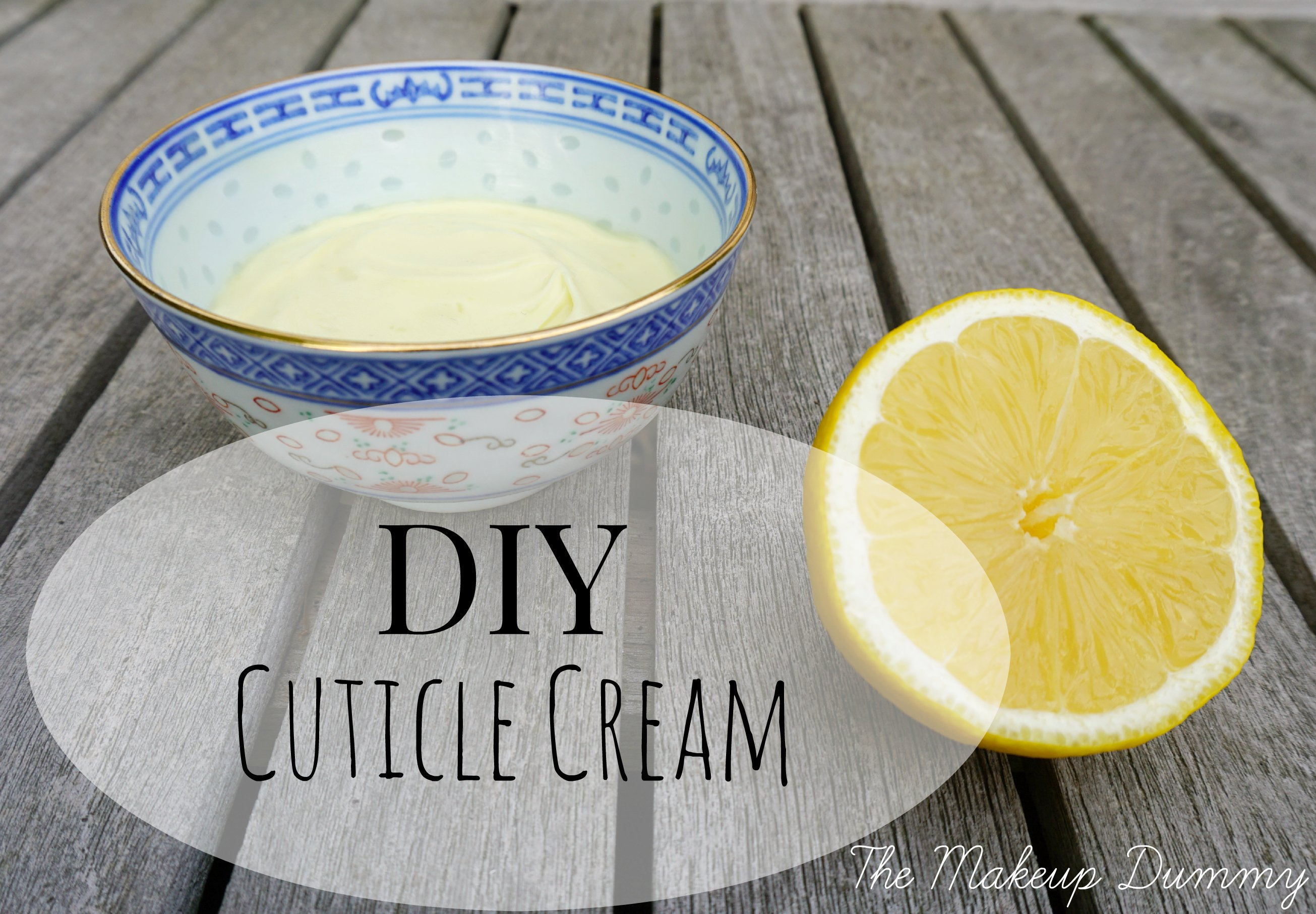 DUPE How to make your own LUSH Lemony Flutter Cuticle Cream | A DIY by The Makeup Dummy