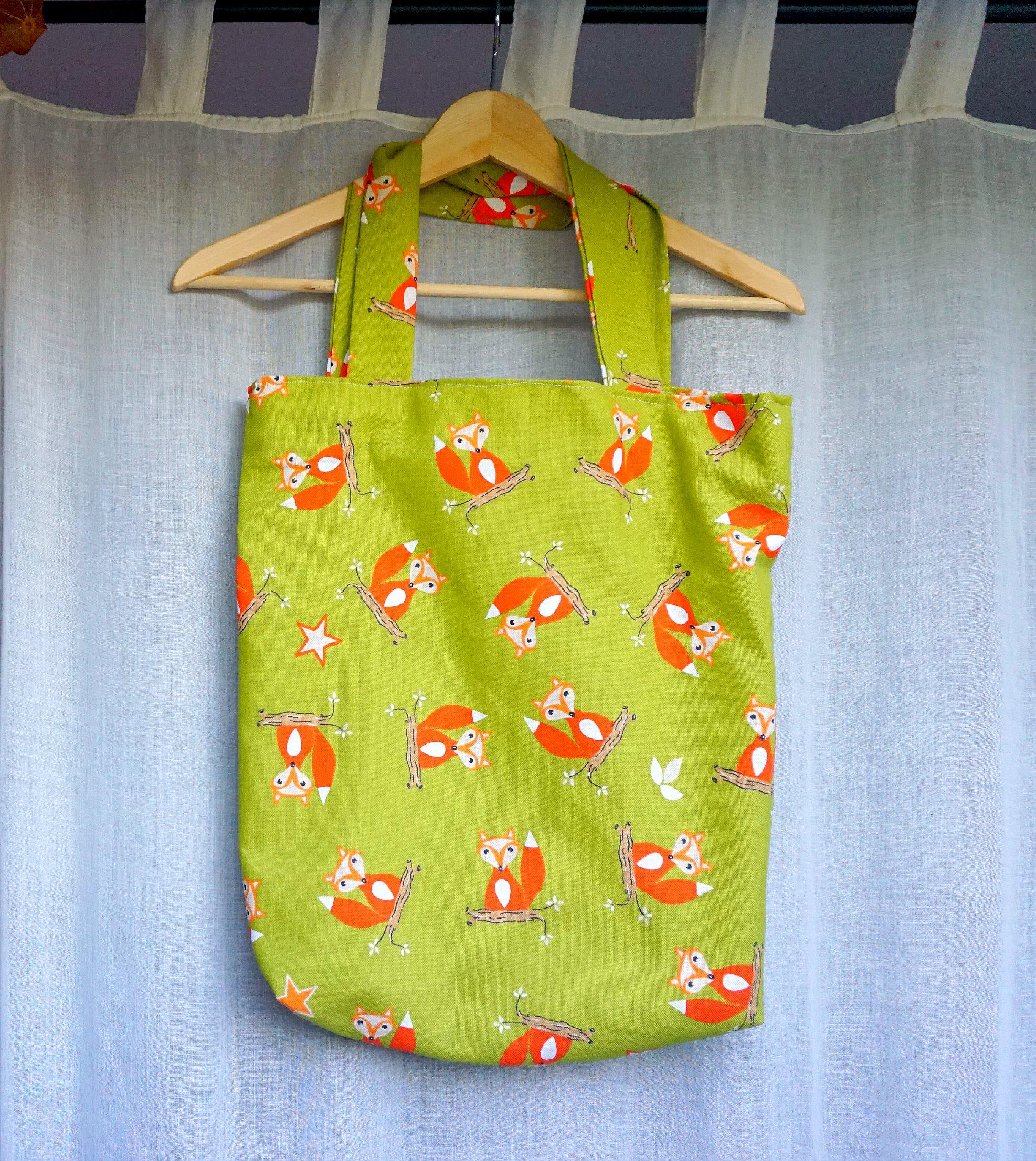 DIY Fox Tote Bag for Fall