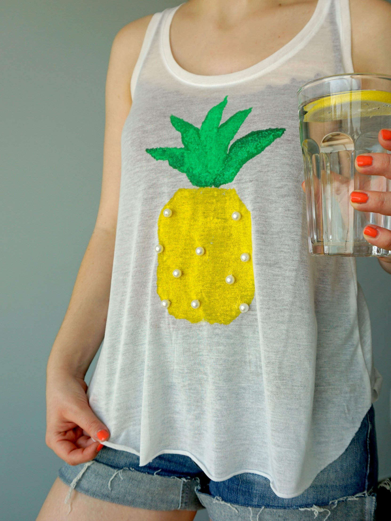 Diy pineapple print shirt tutorial the makeup dummy for How to print your own shirt