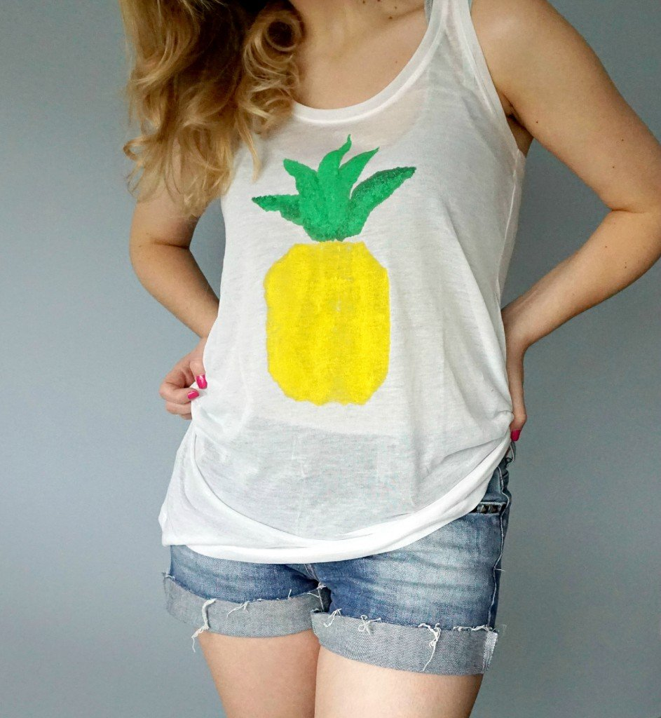 How to make your own Pineapple Print | A DIY by The Makeup Dummy