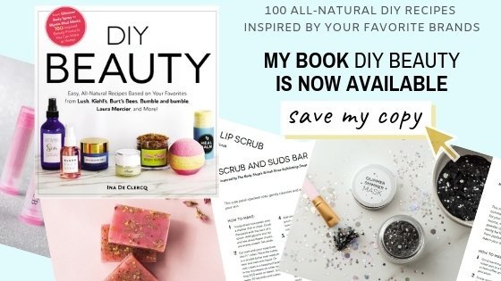 100 easy all natural diy skin care and makeup recipes to make your own homemade beauty products, inspired by your favorite brands and products like LUSH, Kiehl's, Soap and Glory, MAC,