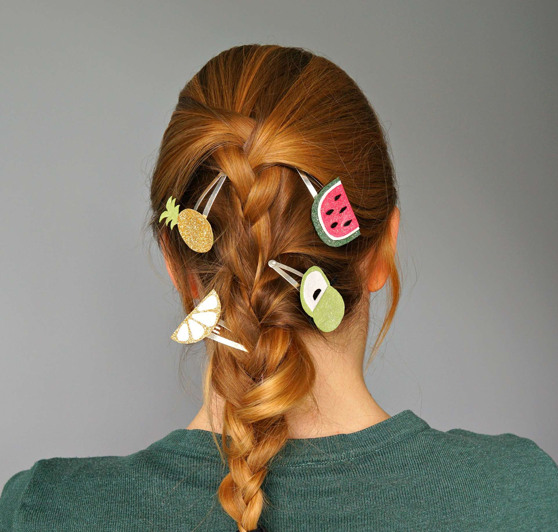 Tutorial How To make your own summer Fruit Hair Clips with dollar store items! DIY by The Makeup Dummy
