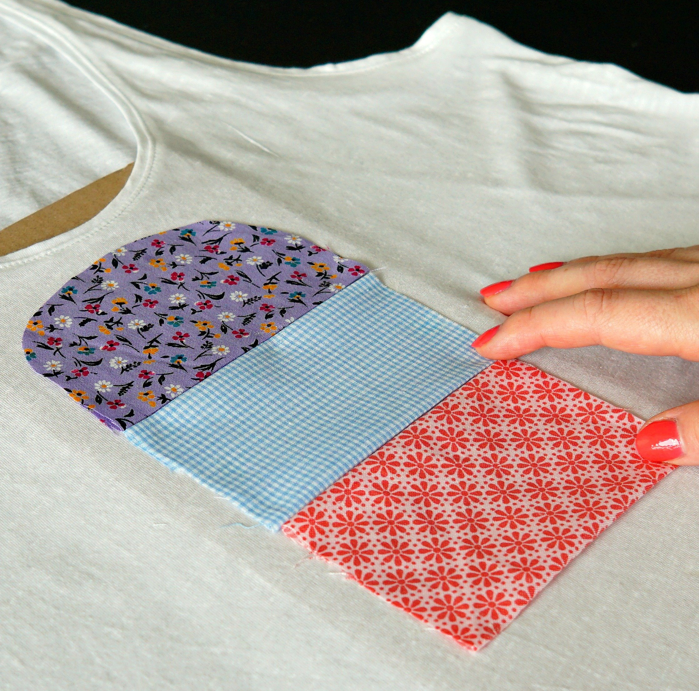 Tutorial on How To make a customized ice cream popsicle shirt with fabric scraps! DIY by The Makeup Dummy