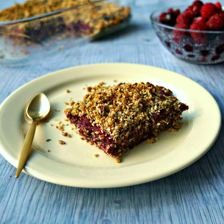 Seeded Berry Oat Bars recipe