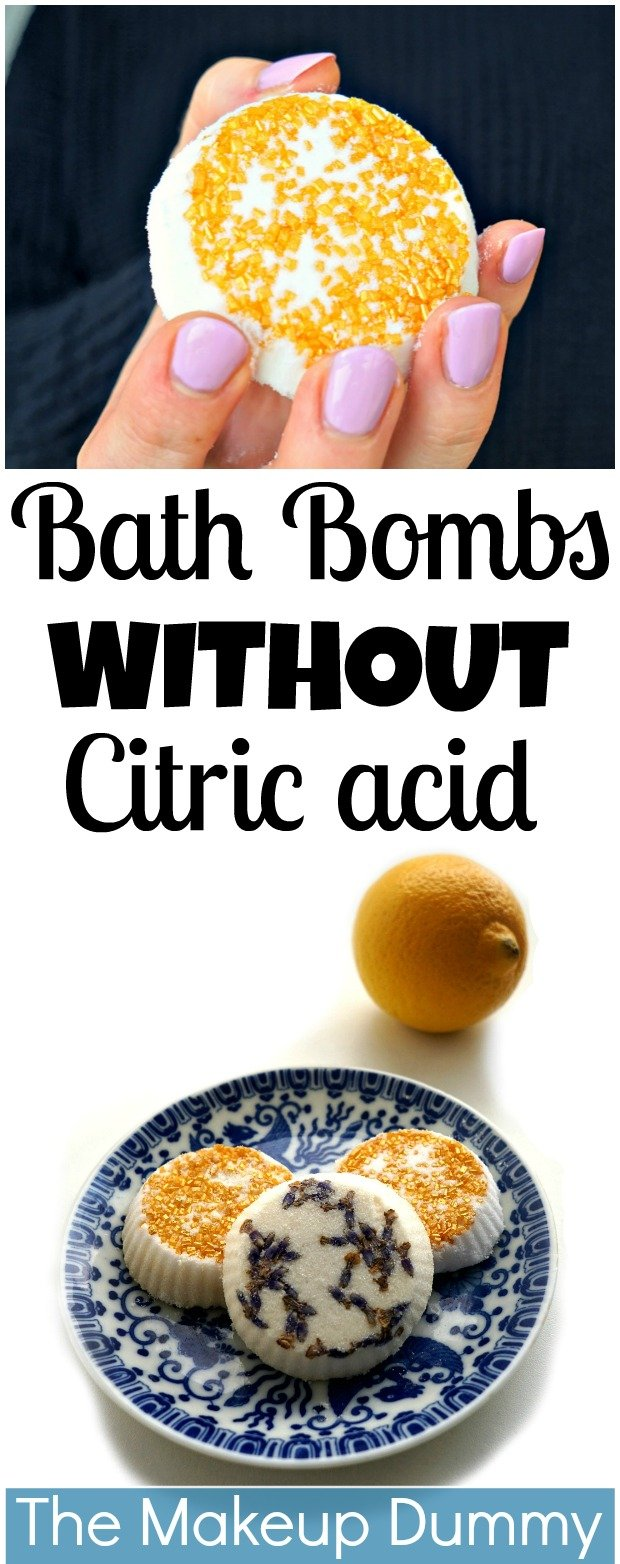 How To make DIY Bath Bombs WITHOUT citric acid or cream of tartar but with lemon juice instead! Easy Tutorial by The Makeup Dummy