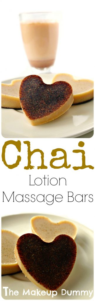 These smell so good! How To Tutorial for Vanilla Chai Latte Lotion Massage Bars! DIY by The Makeup Dummy