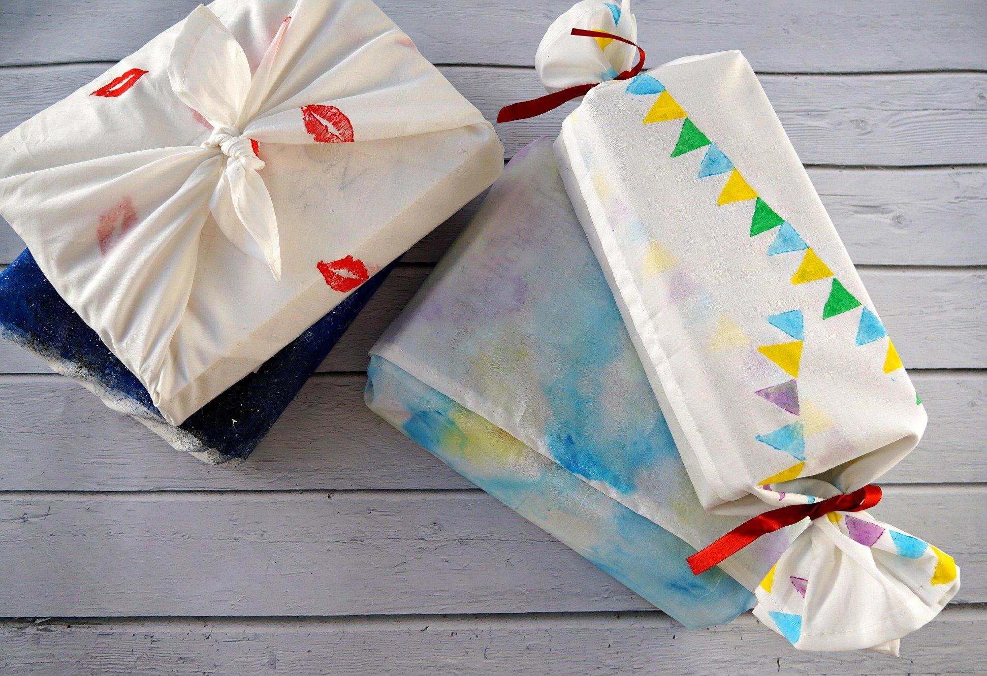 DIY Creative Fabric Gift Wrapping