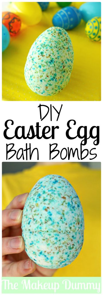 This is an AMAZING Easter Egg Craft Idea! How To make your own DIY Bath Bombs with colored epsom salt from plastic eggs! Tutorial by The Makeup Dummy
