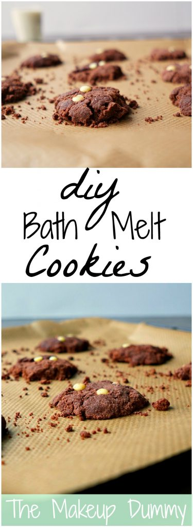 These DIY Bath Melt Cookies smell AMAZING! They look just like vanilla double chocolate chip cookies but they are actually bath melts! Tutorial by The Makeup Dummy