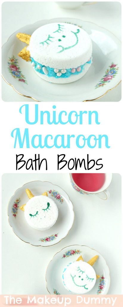 These are SO cute! How To make DIY Unicorn Macaroon Bath Bomb Melts! Tutorial by The Makeup Dummy