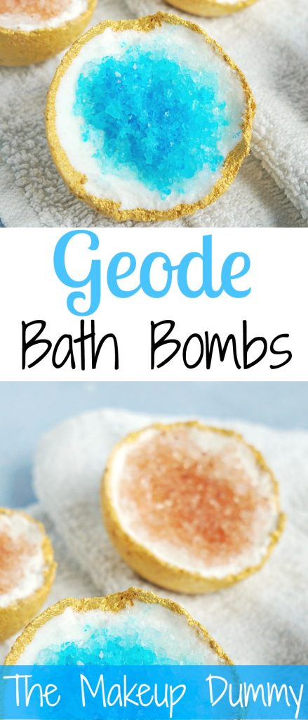 These look so beautiful! How To make your own DIY Geode Bath Bombs! Tutorial by The Makeup Dummy