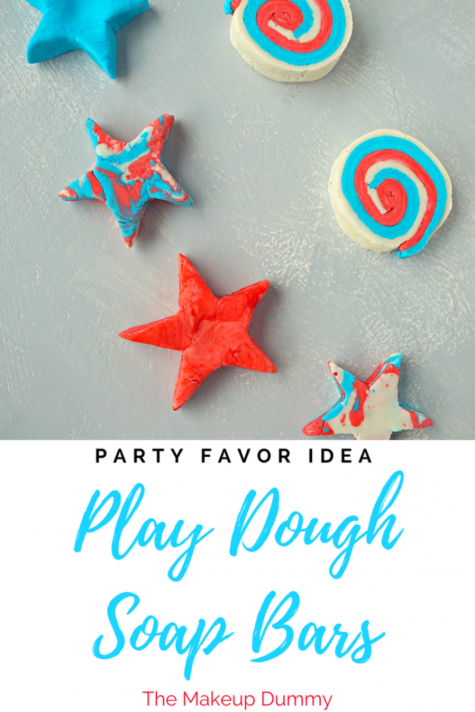 Easy and fun activity for kids and teens! How To Make your own Soap Dough Bars! Great 4th of July party favor idea! How To make your own DIY Soap Dough Bars inspired by LUSH Fun and Play Dough. Tutorial by The Makeup Dummy