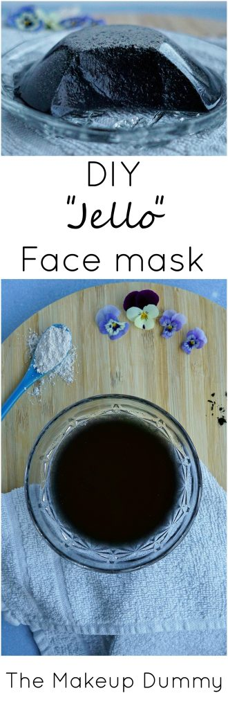 A cheap and easy DIY LUSH dupe for Jelly Face Masks! How To make and use your own copycat Charcoal Jello Face Mask. Tutorial by The Makeup Dummy