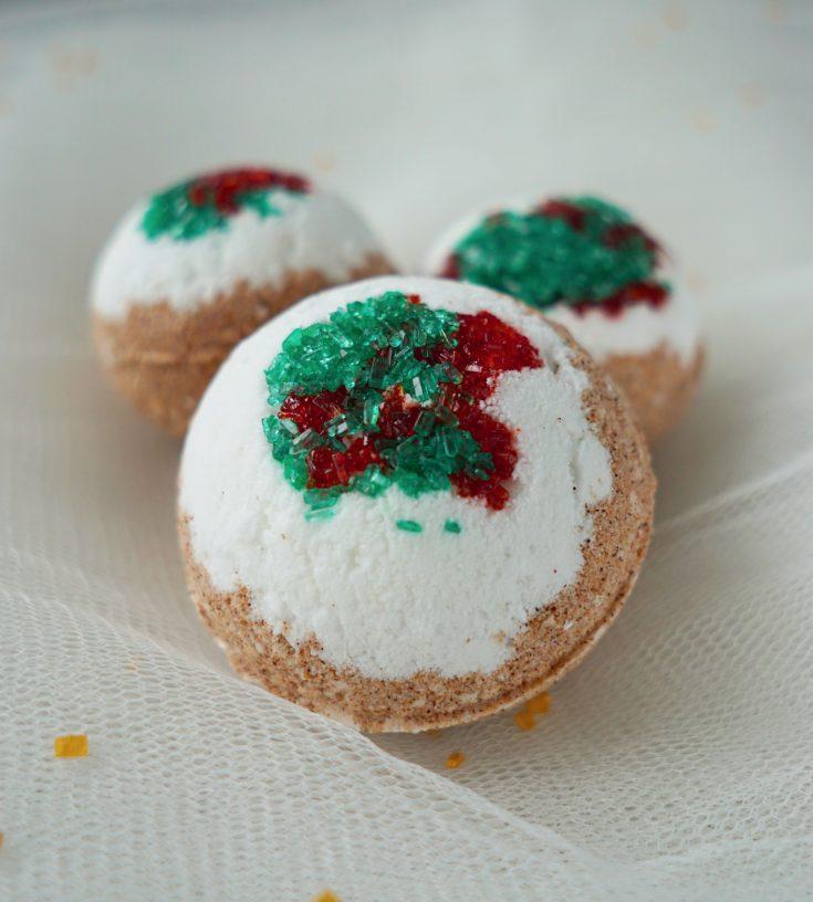 DIY Gingerbread House Bath Bombs