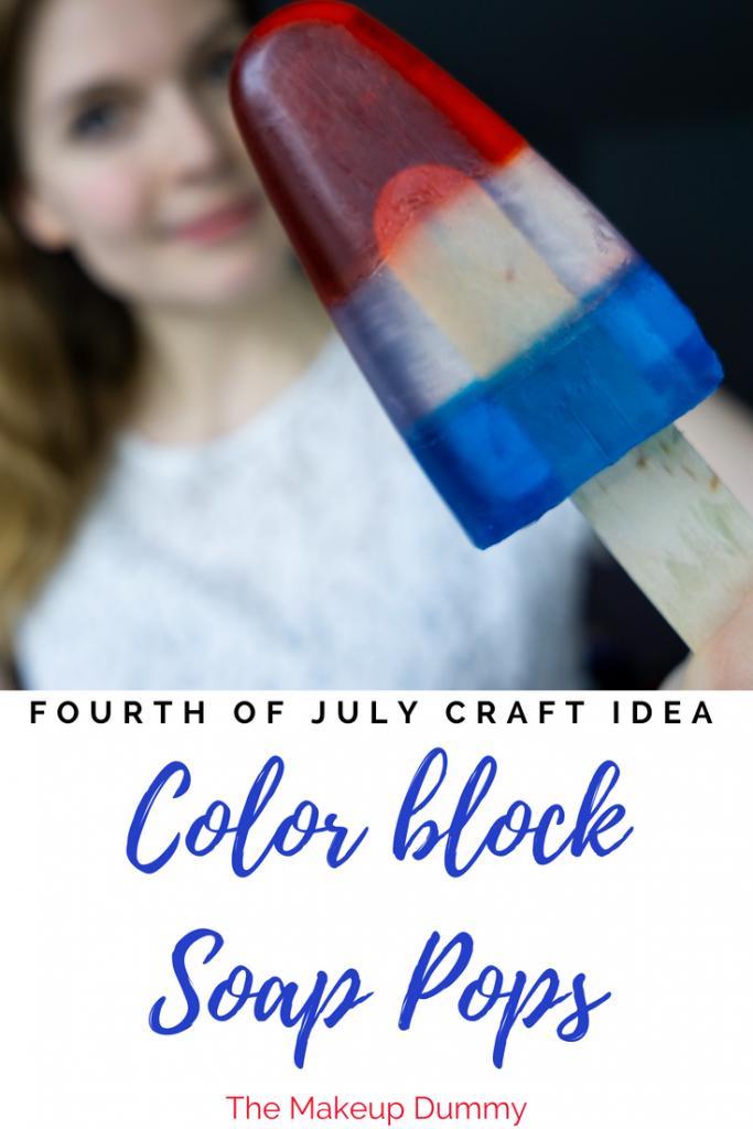 DIY Color Block Melt and Pour Soap Pops - The Makeup Dummy