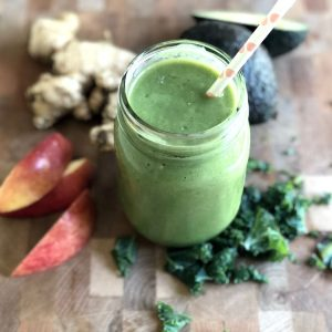 Healthy Creamy Banana Kale Green Smoothie for Glowing Skin Recipe Tutorial