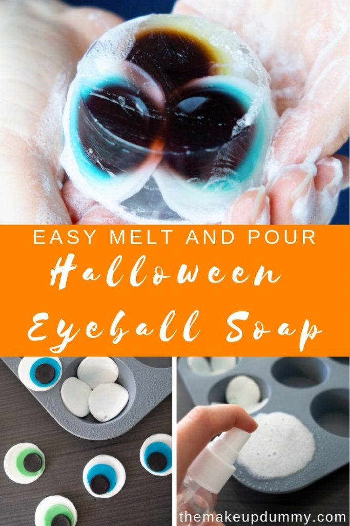 How To Make Creepy, Scary and yet incredibly Cute & Adorable Eyeball Soaps for Halloween! A great candy trick or treat alternative, or a party gift or decor item. DIY Tutorial by The Makeup Dummy #meltandpoursoaps #halloweendecor #halloweendiys #trickortreatideas #halloweenideas #halloweencrafts