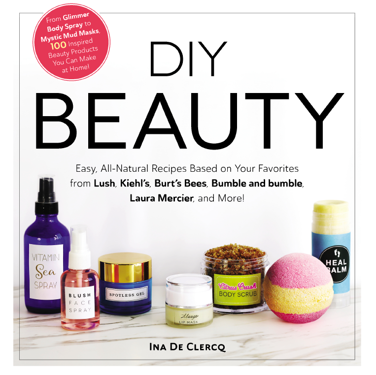 100 easy all natural diy skin care and makeup recipes to make your own homemade beauty products, inspired by your favorite brands and products like LUSH, Kiehl's, Soap and Glory, MAC, Burt's Bees, Laura Mercier, Bumble and Bumble and many more!