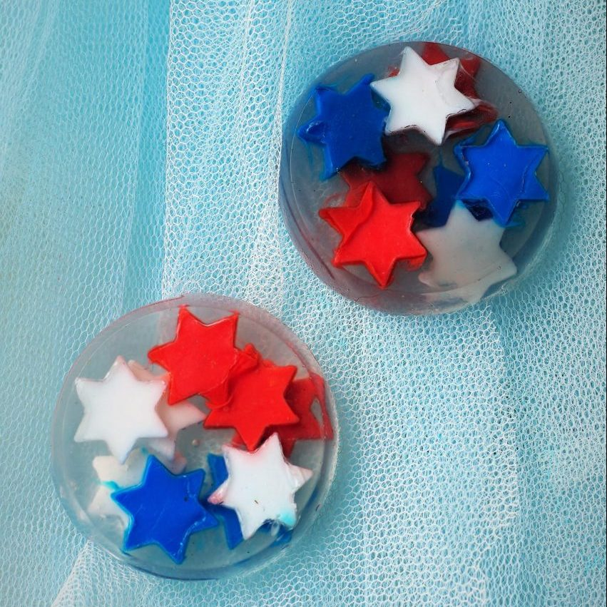 Red, White & Blue Stars Melt and Pour Soaps