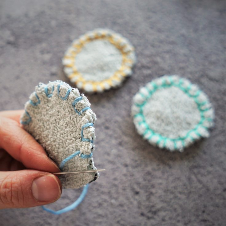 DIY Reusable Cotton Pads Tutorial