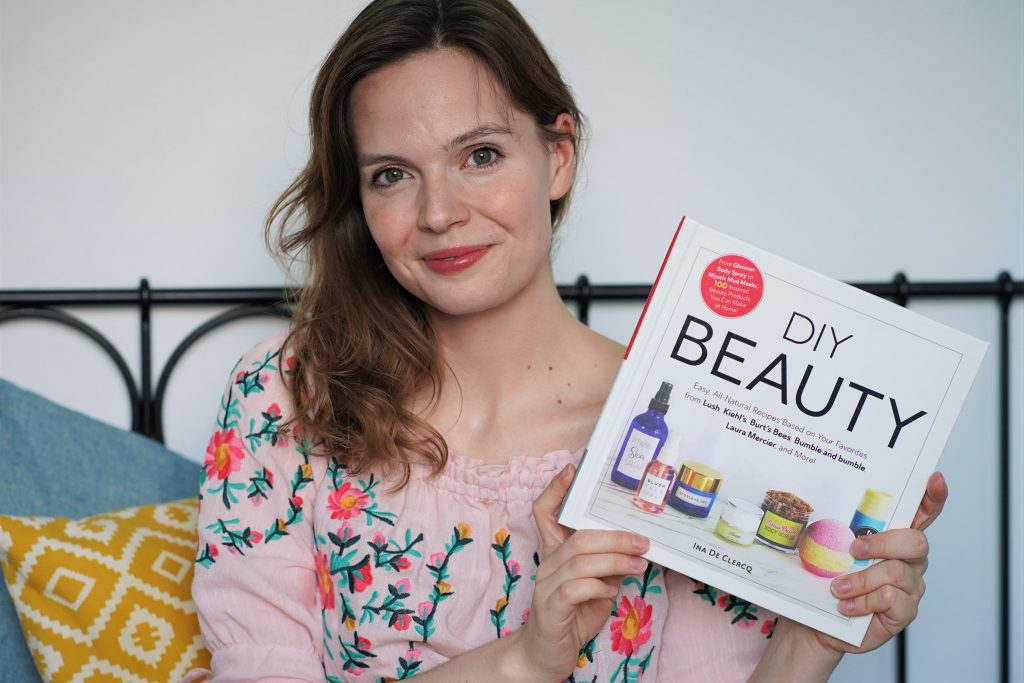Book DIY Beauty by Ina De Clercq - 100 recipes to make yourself at home inspired by famous store and drugstore brands and products, like Sephora, lush, laura mercies, dior and many many more!