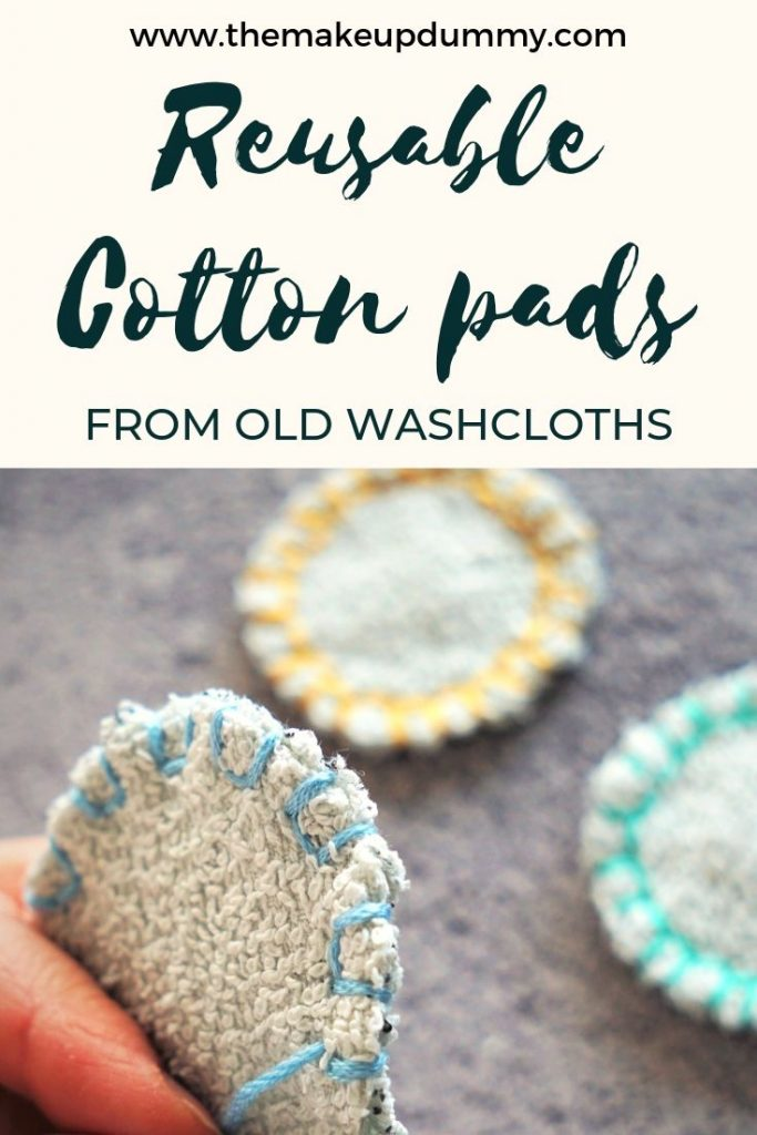 How to make and wash your own reusable makeup remover cotton pads with easy materials you already have at home. A great eco-friendly zero waste DIY tutorial