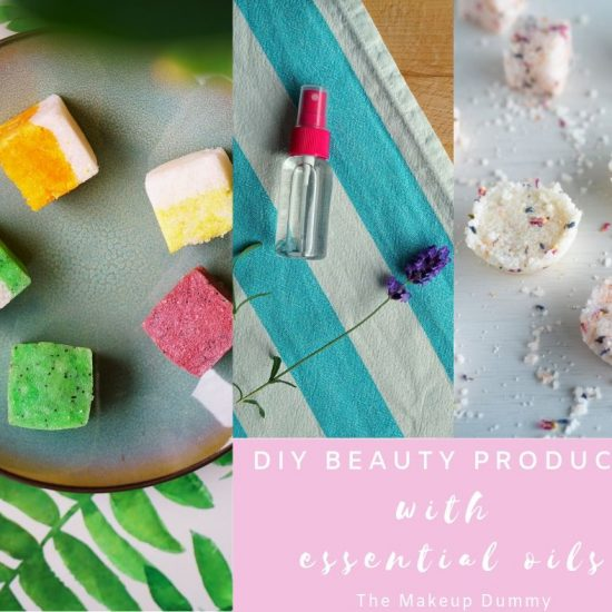 DIY homemade beauty and skincare products made with natural essential oils, Tutorials by The Makeup Dummy.