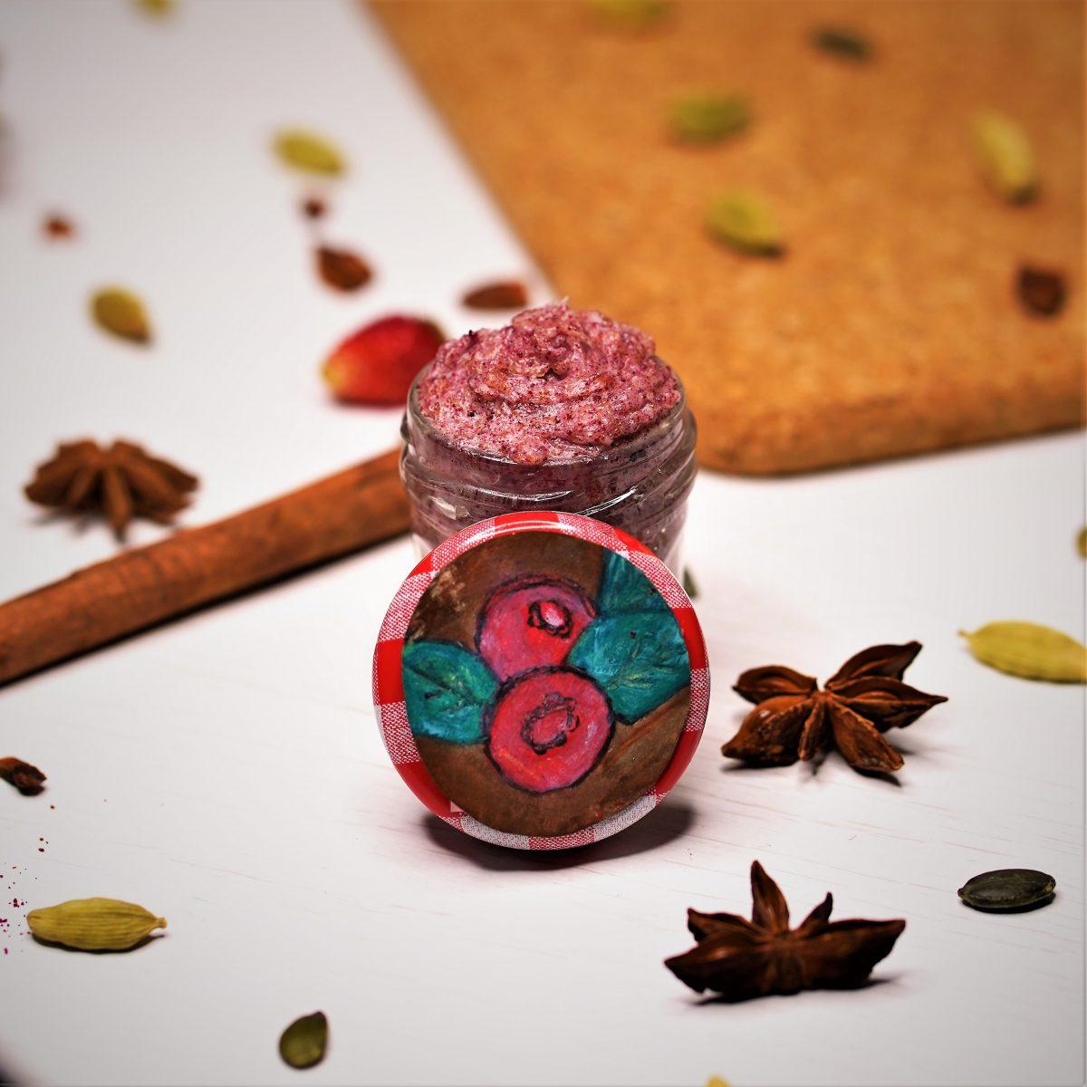 Cranberry & Sugar DIY Lip Scrub