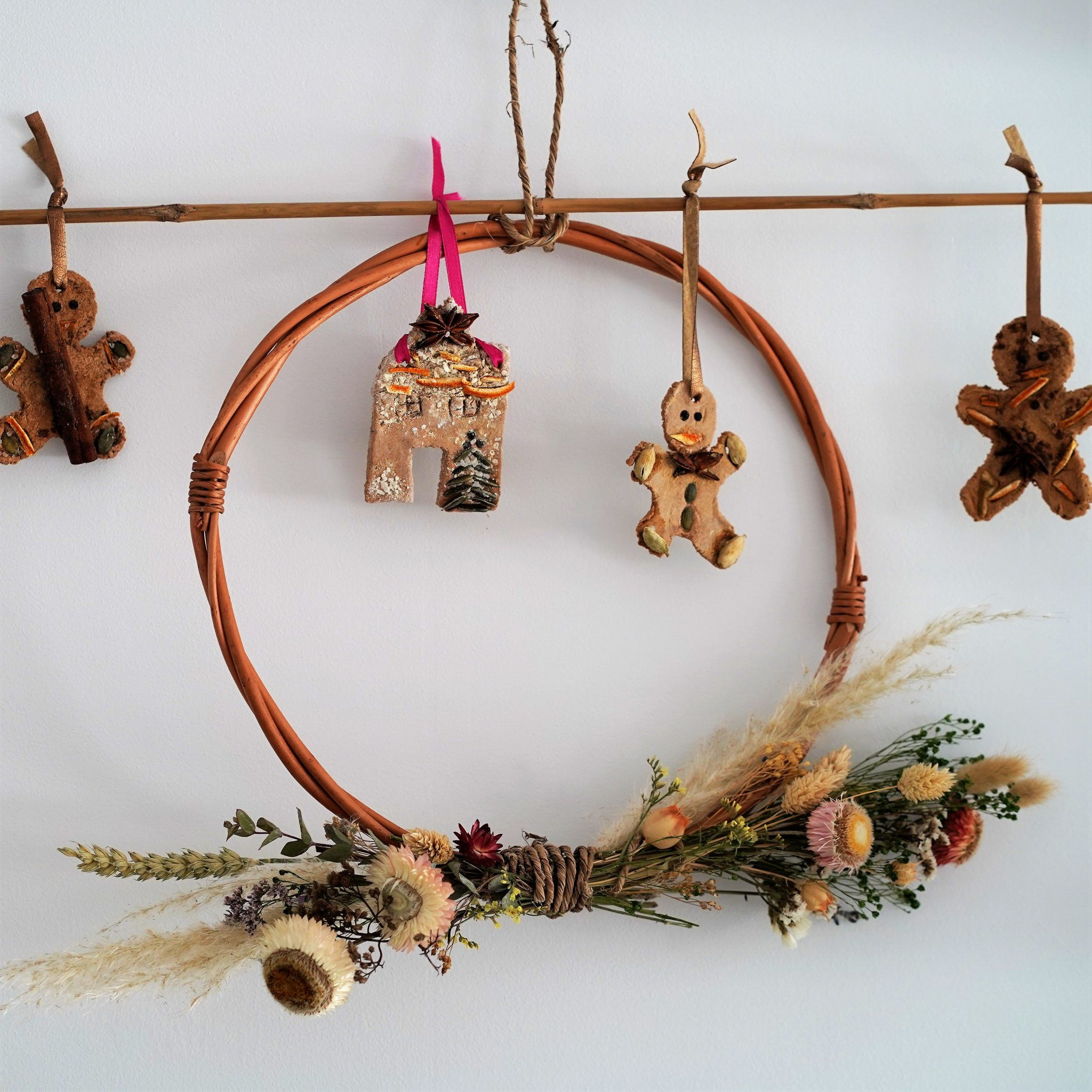 Naturally Scented DIY Gingerbread Ornaments