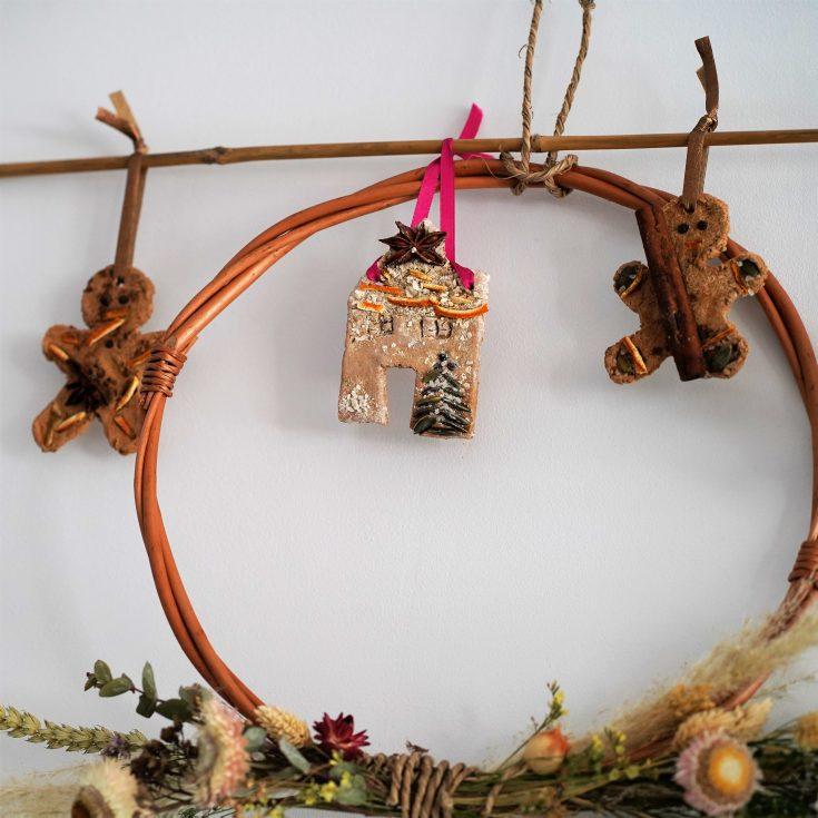 DIY Natural Gingerbread Ornament Tutorial